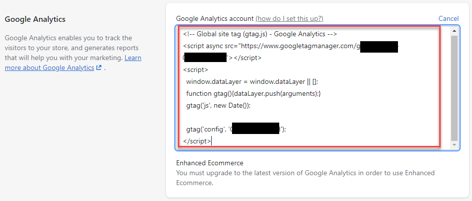 Adding Google Analytics to your Shopify store